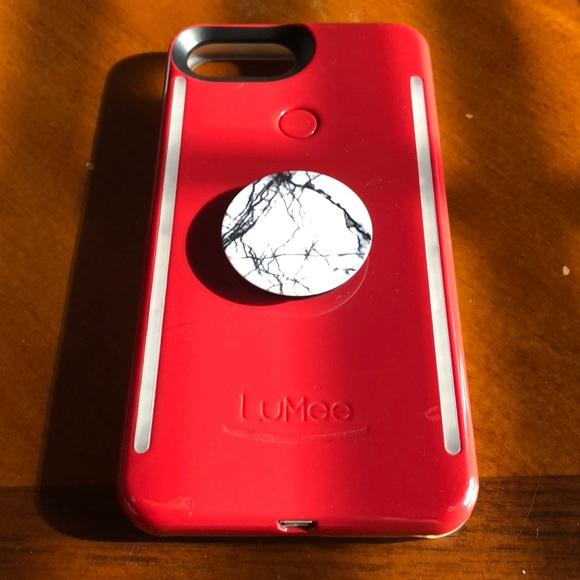 meet 1165d 70f3c LuMee Case Crimson Red with popsocket